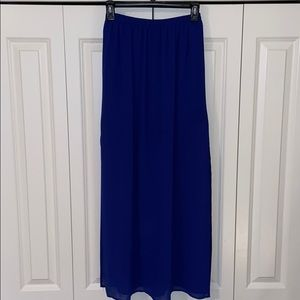 Chiffon Maxi Skirt w/ Side Slits